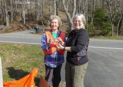 Pat Jenkins & Ruth Atkins 3-17-18 Roadside Cleanup