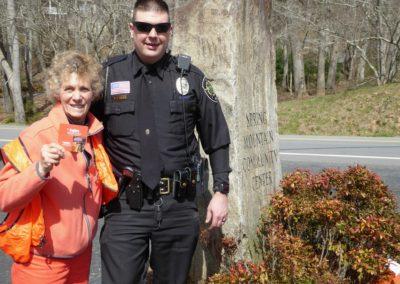 Shanna Belle & Deputy Warren Keep 3-17-18 Roadside Cleanup